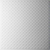 Diamond Plate White Ceiling Tiles