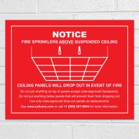 Drop-Out Ceiling Safety Notice