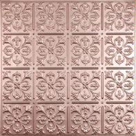 Fleur-de-lis Copper Ceiling Tiles