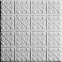 Fleur-de-lis White Ceiling Tiles
